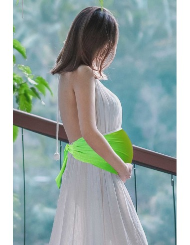 Bandeau de grossesse anti-ondes vert fluo