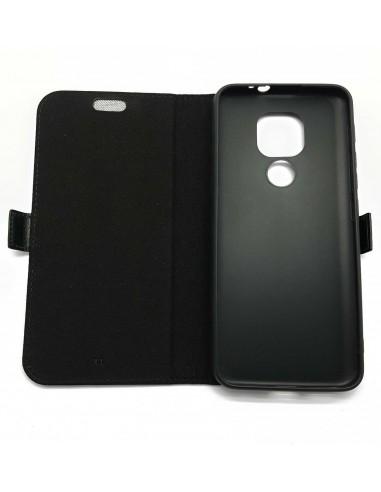 Estojo anti-ondas de couro preto para MOTOROLA G9 Play 4G