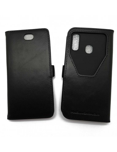 Anti-wave case for Samsung GALAXY A20e in black leather