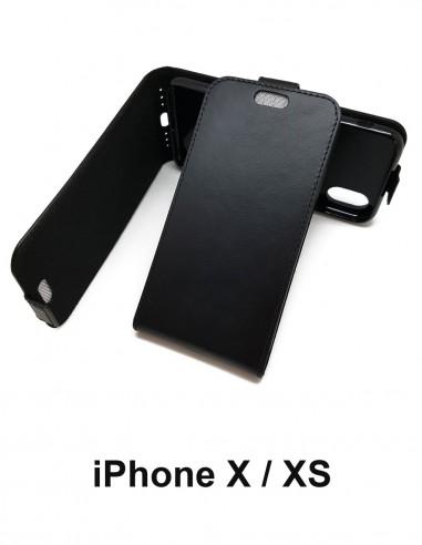 Etui anti-ondes iPhone X / XS cuir noir (up&down)
