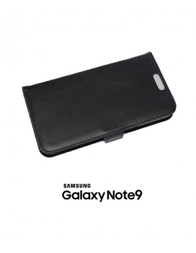 Samsung Galaxy Note9 black top leather anti-wave case (book)