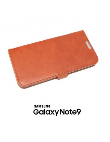 Etui anti-ondes Samsung Galaxy Note9 cuir couleur fauve (book)