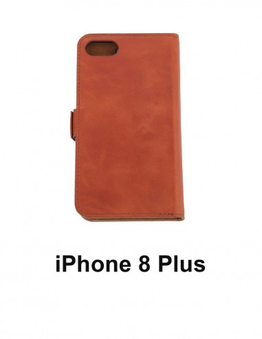 iPhone 8 Anti-wave case Plus tawny upper leather (book)