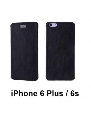 Etui anti-ondes iPhone 6 Plus / 6s Plus cuir noir (book)