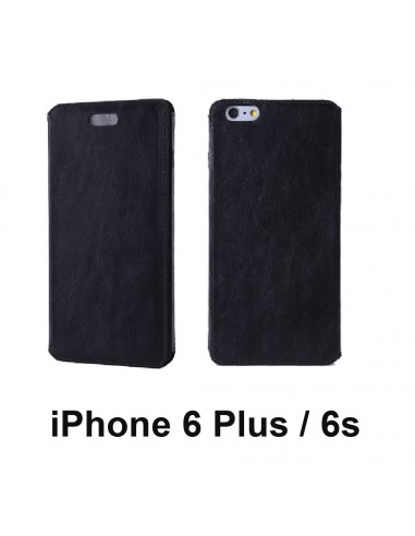iPhone 6 Plus / 6s Plus Anti-wave case Plus black top leather (book)