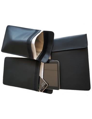 Pochette Faraday iPad Noir (cuir)