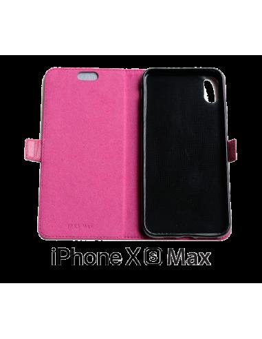 iPhone XS Max Leder Anti-Wellen-Hülle...