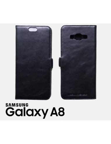 Etui anti-ondes Samsung Galaxy A8 (2015) cuir supérieur noir (book)