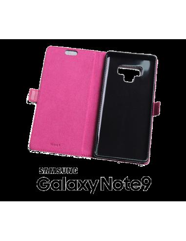 Etui anti-ondes Samsung Galaxy Note9 cuir supérieur rose (book)