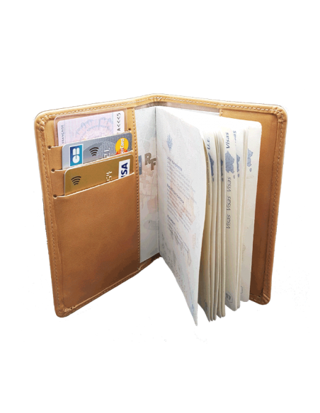 Protège-passeport cuir