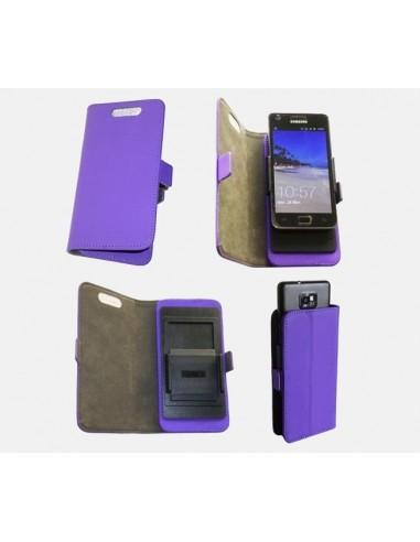 Etui anti-ondes universel moyen format violet simili-cuir (clips)