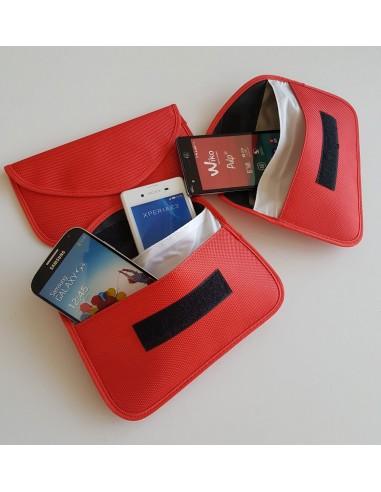 Tejido rojo de la bolsa anti-onda de...