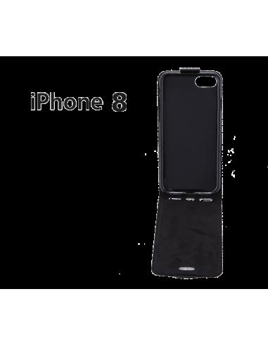 Etui anti-ondes iPhone 8 cuir supérieur noir (up&down)