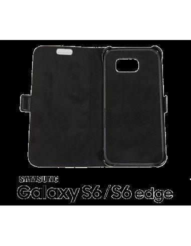 Etui anti-ondes Samsung Galaxy S6 / S6 Edge cuir supérieur noir (book)