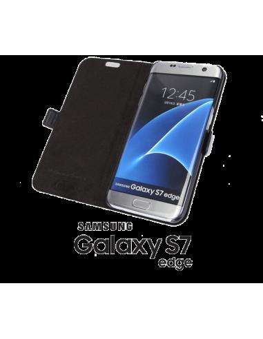 Etui anti-ondes Samsung Galaxy S7 Edge cuir supérieur noir (book)