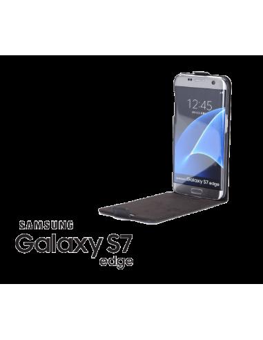 Etui anti-ondes Samsung Galaxy S7 Edge cuir supérieur noir (up&down)