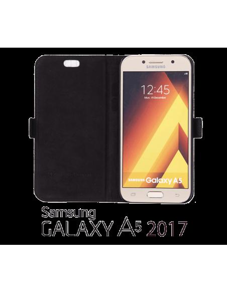 Etui anti-ondes Samsung Galaxy A5 2017 cuir supérieur noir (book)