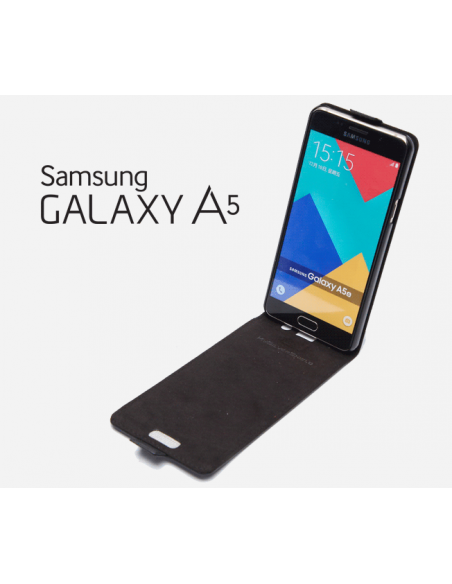 Etui anti-ondes Samsung Galaxy A5 2016 cuir supérieur noir (up&down)