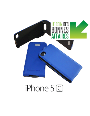 Etui anti-ondes iPhone 5c bleu (up&down)