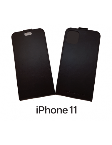 Etui anti-ondes iPhone 11 cuir supérieur noir (up&down)