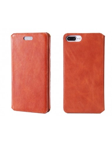 Etui anti-ondes iPhone 6 Plus cuir supérieur fauve (book)