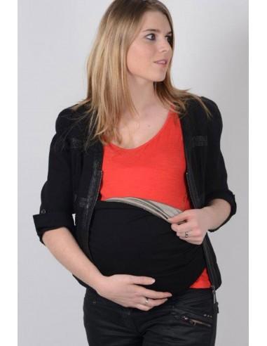 Bandeau de grossesse anti-ondes noir.