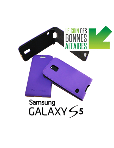 Etui anti-ondes Samsung Galaxy S5 violet (up&down)