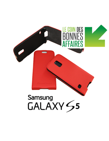 Etui anti-ondes Samsung Galaxy S5 rouge (up&down)