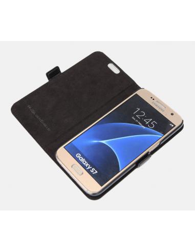 Samsung Galaxy S7 top cuero anti-wave...