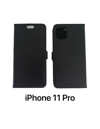 11 PRO - Etui anti-ondes iPhone cuir supérieur noir