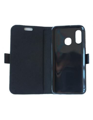 Samsung Galaxy A40 negro top cuero...