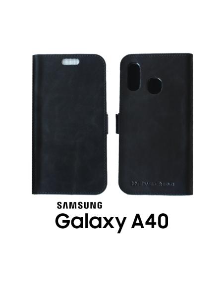 Etui anti-ondes Samsung Galaxy A40 cuir supérieur noir