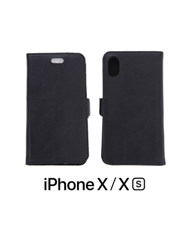 iPhone X /XS top leather anti-wave case black color