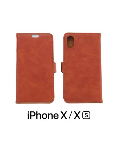 iPhone X /XS top leather anti-wave case animal color