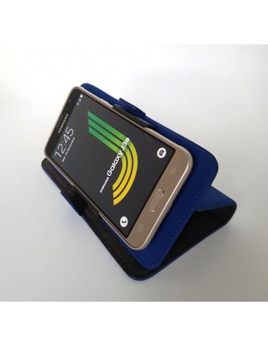 iPhone 5 / 5S / SE preto couro de alta qualidade (up&down)