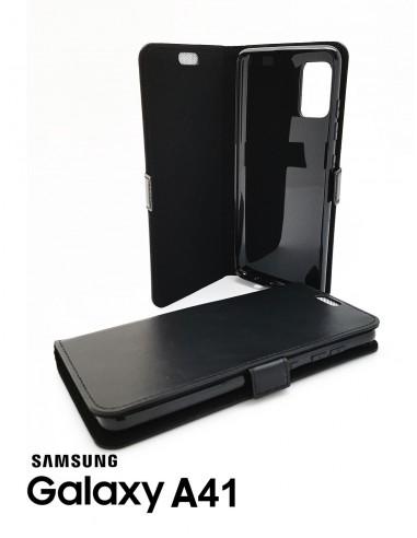 Etui anti-ondes Samsung Galaxy A41 cuir supérieur noir