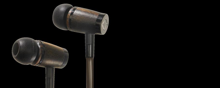 Anti-wave wooden earphones